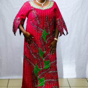 Swiss Dry Lace with Ankara Pattern works.