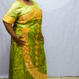 Getzner Long Dress with Embroidery.