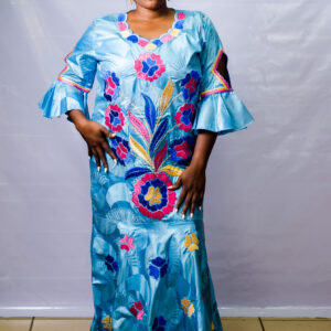 Getzner Long Dress with Embroidery