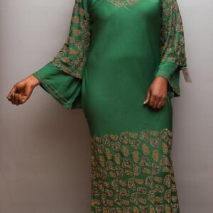 Lycra Long Dress with Full Stones