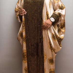 Silk Boubou with Crystal Stones