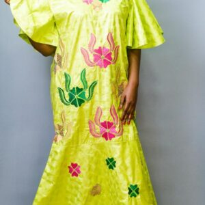 Getzner Long Dress with Embroidery and Crystal Stones